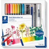 Staedtler Design Journey Floral Watercolour Set | 12pcs - Main Image