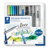 Staedtler Design Journey Hand Lettering and Watercolour Set | 11pcs - Main Image