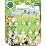 Craft Consortium | Bluebells and Buttercups | Silver Bluebell Charms