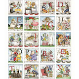 Hungry Animal Alphabet | Riley Blake | EQS Fabrics | Hungry Animal Alphabet Patch Panel | RBP10180PANEL