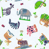 Animal Magic | Tracey English | Clothworks Fabric | Animal Play | Y2891-55 Multi Color