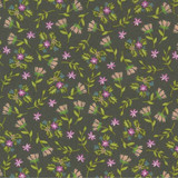 Balboa | Sherri & Chelsi | Moda Fabrics | 37593-16 Charcoal Flowers & Sprigs