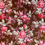 October Skies   Verna Mosquera Fabrics   Vintage Garden   PWVM064-PECAN   HALF METRE UNITS - Please see penny for size reference