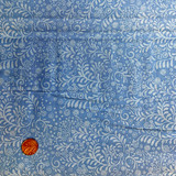 Hungarian Blue   Clothworks Fabrics   Pale Blue Floral   Y0590-30   1.0M REMNANT FABRIC - Please see penny for size reference