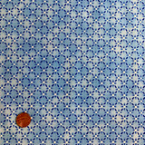 Hungarian Blue | Clothworks Fabrics | Floral Diamond Check | Y0594-30 | HALF METRE UNITS - Please see penny for size reference