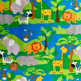 In the Jungle | Nutex Fabrics | Jungle Animals | 89660-101 | 2.0M REMNANT FABRIC - Please see penny for size reference