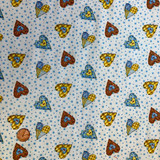 Holly Hobby Fabrics | SPX Fabrics | Small Stitched Hearts | 24079MUL1 | HALF METRE UNITS - Please see penny for size reference