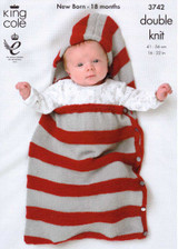 Baby / Childrens Bolero, Snuggle Bag, Hat & Booties DK Pattern | King Cole DK 3742