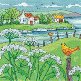 Cow Parsley Shore | By the Sea Collection | 14 Count Cross Stitch Kit | Karen Carter