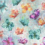 Sunshine Soul | Create Joy Project | Moda Fabrics | 8462-11 | All Aflutter Butterflies, Cool Breeze