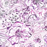 Sunshine Soul | Create Joy Project | Moda Fabrics | 8467-11 | Passion Flowers, Ultra Violet