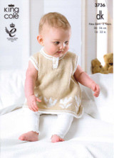 Babies / Childs Dress and Cardigan DK Pattern | King Cole DK 3736
