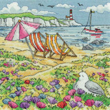 Summer Shore   By the Sea Collection   14 Count Cross Stitch Kit   Karen Carter