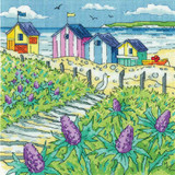 Sea Holly Shore   By the Sea Collection   14 Count Cross Stitch Kit   Karen Carter