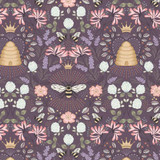 Queen Bee | Lewis and Irene | A500.3 Bee Hive on Aubergine