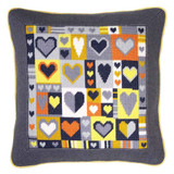 """Grey Hearts Tapestry Kit 