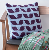 Eden Cushion by Chloe Thurlow | Rowan Pure Wool Superwash Worsted Yarn Pack Including Pattern Book and Needles