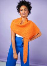 Aperol Scarf by Quail Studio | Rowan Summerlite DK and Kidsilk Haze Yarn Pack Including Pattern Book and Needles