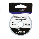 Trimits | 7 Strand Coated Wire | 0.3mm | Various Colours | 12m Reels