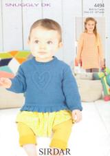 Babies / Childs Sweaters DK Pattern | Sirdar Snuggly DK 4494