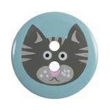 Cat Button | Blue | 19mm | 2 Hole