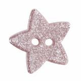 Glitter Star Button| 18mm | Light Pink | 2 Hole
