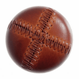 Imitation Leather Stitched Look Button | 28mm | Tan | Various Sizes