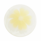 Pastel Flower Button   12mm   Yellow   Shank