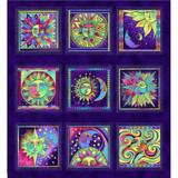 Celestial Magic | Laurel Burch | EQS Fabrics | CWY3159-28M | Panel