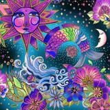 Celestial Magic | Laurel Burch | EQS Fabrics | CWY3160-55M