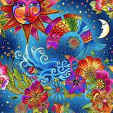 Celestial Magic | Laurel Burch | EQS Fabrics | CWY3160-56M