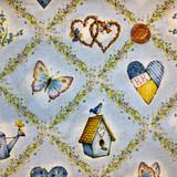 Holly Hobby Fabrics | SPX Fabrics | Blue Garden | 24077BLU11D | Half Metre Units