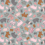 Piggy Tales | Lewis and Irene | A534.2 Piggies on Grey