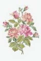 DMC Pink Roses Bouquet Cross-Stitch | 14 Count
