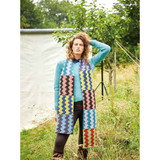 Rowan Contrast Zig Zag Scarf Womens Knitting Pattern using Felted Tweed | Digital Download (ZB279-00002) - Main Image