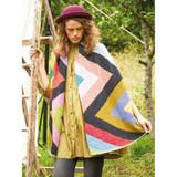 Rowan Oversized Zig Zag Wrap Womens Knitting Pattern using Felted Tweed | Digital Download (ZB279-00003) - Main Image