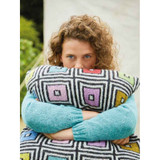 Rowan Black & White Boxes Cushion  Knitting Pattern using Felted Tweed | Digital Download (ZB279-00006) - Main Image