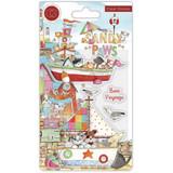 Sandy Paws Bon Voyage Clear Stamp Set | Helz Cuppleditch | Craft Consortium - Main image