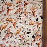 Free Spirit Westminster Fibres Paw Prints | Kathy Davis | PWKD 079 Puppies Beige | 1M REMNANT - Main image
