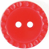 ABC Loose Buttons | Patterned Edge Red Button | 15 mm Diameter