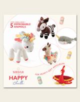 Sirdar Happy Chenille | Improbable Animals | Happy Chenille Book 3 | 5 Cuddly Friends