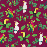 Jungle Paradise   Stacy lest Hsu   Moda Fabrics   20782-17 Magenta