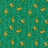 Jungle Paradise   Stacy lest Hsu   Moda Fabrics   20784-21 Monstera
