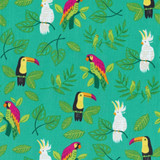 Jungle Paradise   Stacy lest Hsu   Moda Fabrics   20782-18 Peacock