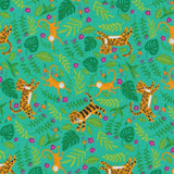 Jungle Paradise   Stacy lest Hsu   Moda Fabrics   20783-18 Peacock