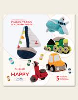 Sirdar Happy Cotton | Planes, Trains & Automobiles | Happy Cotton Book 14 | 5 Traveling Amigurumi
