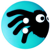 Peeking Spider Buttons   15 mm   Dill Buttons   Turquoise
