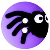 Peeking Spider Buttons   15 mm   Dill Buttons   Purple