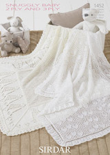 Baby Shawls 2 Ply / 3 Ply Knitting Pattern | Sirdar Snuggly 2 Ply / 3 Ply 1452