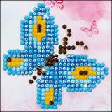 "Butterfly Sparkle   3"" x 3"" Diamond Painting Kit with Frame   Diamond Dotz - Main Image"